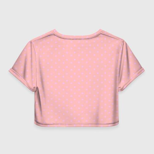 Женская футболка 3D укороченная  Фото 02, Lips