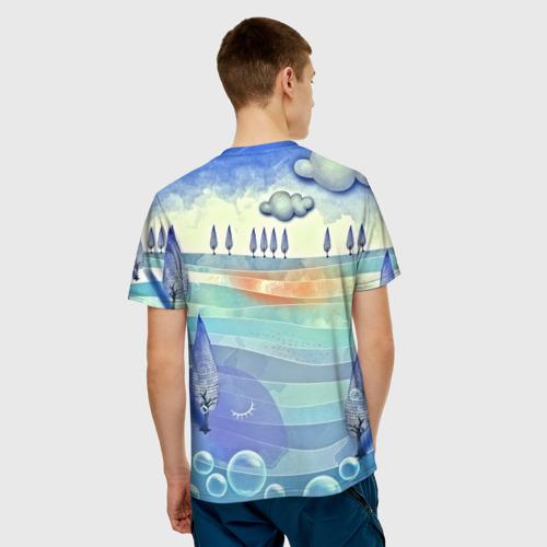 Мужская футболка 3D Рисунок