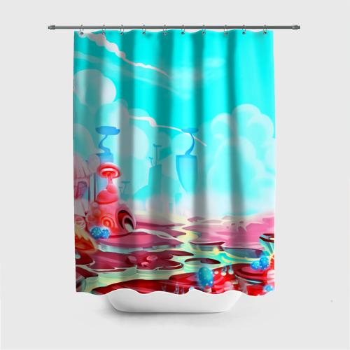 Штора 3D для ванной  Фото 01, Сказочная страна