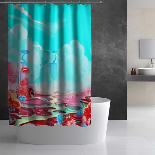 Штора 3D для ванной  Фото 03, Сказочная страна