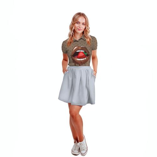 Женская рубашка поло 3D  Фото 04, Шоколадные губки