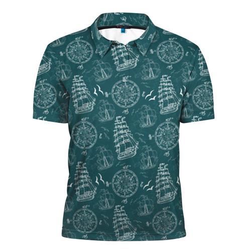 Мужская рубашка поло 3D Море