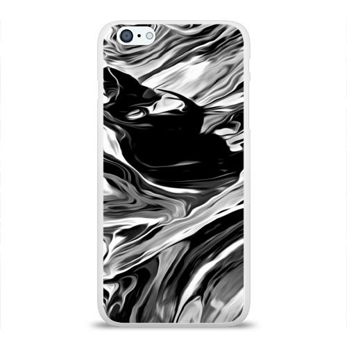 Чехол для Apple iPhone 6Plus/6SPlus силиконовый глянцевый Серые краски Фото 01