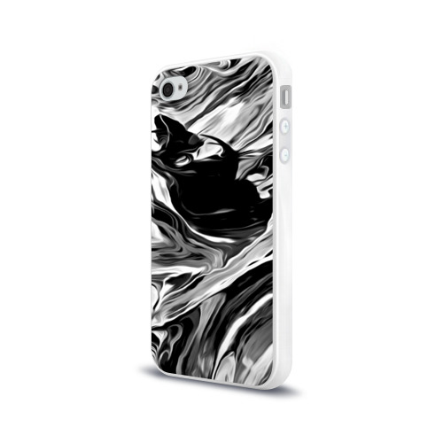 Чехол для Apple iPhone 4/4S силиконовый глянцевый Серые краски Фото 01