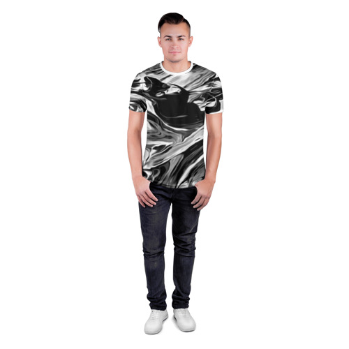 Мужская футболка 3D спортивная  Фото 04, Серые краски