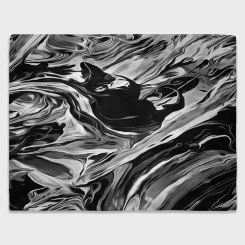 Плед 3D Серые краски Фото 01