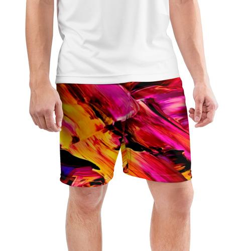 Мужские шорты 3D спортивные  Фото 03, Акварельный цвет