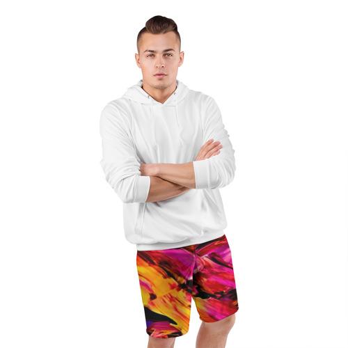 Мужские шорты 3D спортивные  Фото 05, Акварельный цвет