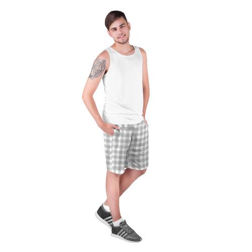 Мужские шорты 3D  Фото 03, Grey squares