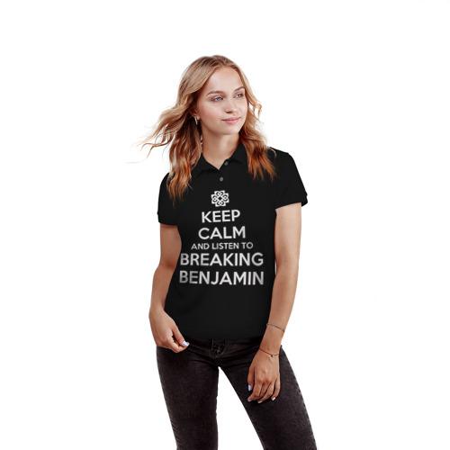 Женская рубашка поло 3D  Фото 03, BREAKING BENJAMIN
