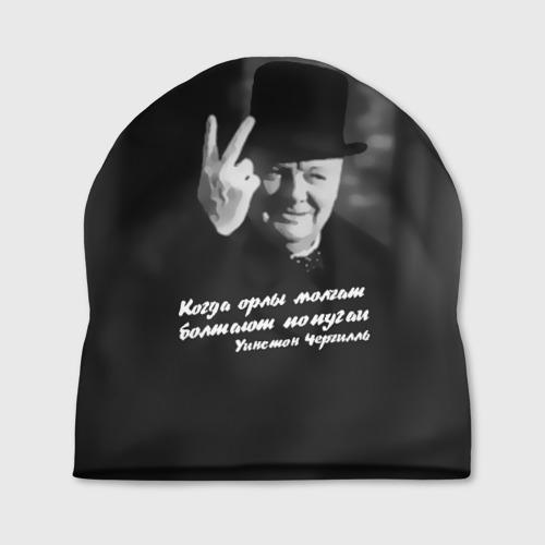 Шапка 3D  Фото 01, Цитата Уинстона Черчилля