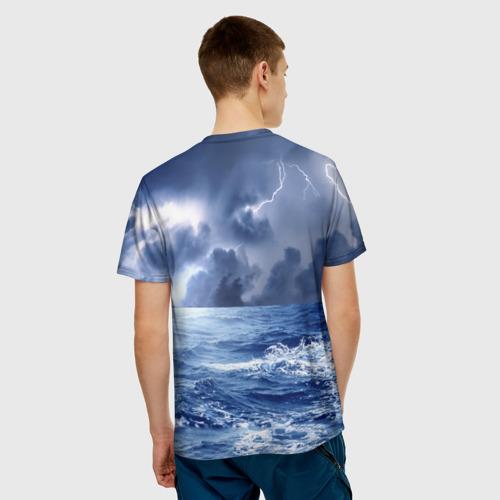 Мужская футболка 3D  Фото 02, Шторм