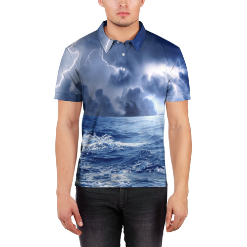 Мужская рубашка поло 3D  Фото 03, Шторм