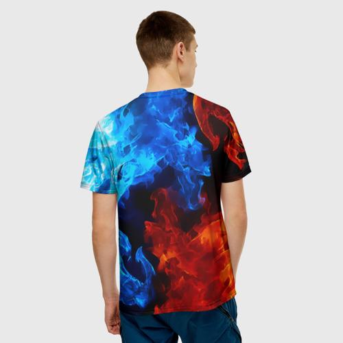 Мужская футболка 3D  Фото 02, Огненный оскал