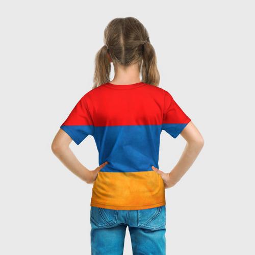 Детская футболка 3D  Фото 04, Флаг Армении с белым орлом