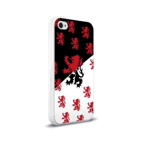 Чехол для Apple iPhone 4/4S силиконовый глянцевый  Фото 02, Лев герба Нидерландов