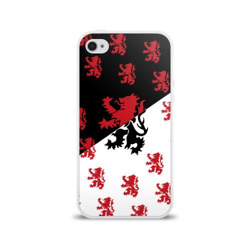 Чехол для Apple iPhone 4/4S силиконовый глянцевый  Фото 01, Лев герба Нидерландов
