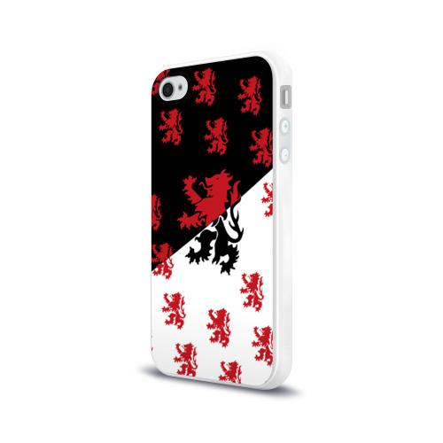 Чехол для Apple iPhone 4/4S силиконовый глянцевый  Фото 03, Лев герба Нидерландов