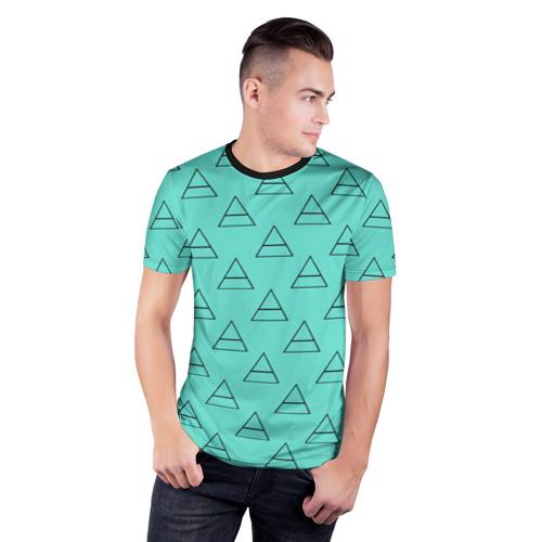 Мужская футболка 3D спортивная  Фото 03, Триада