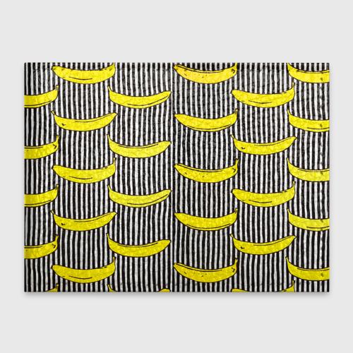 Бананы на Полосатом Фоне