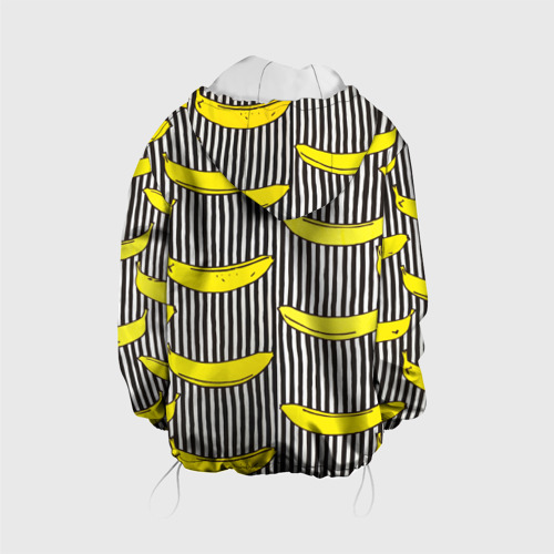 Детская куртка 3D  Фото 02, Бананы на Полосатом Фоне