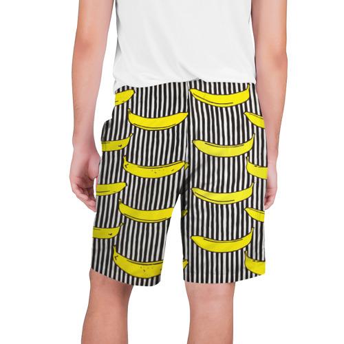Мужские шорты 3D  Фото 02, Бананы на Полосатом Фоне