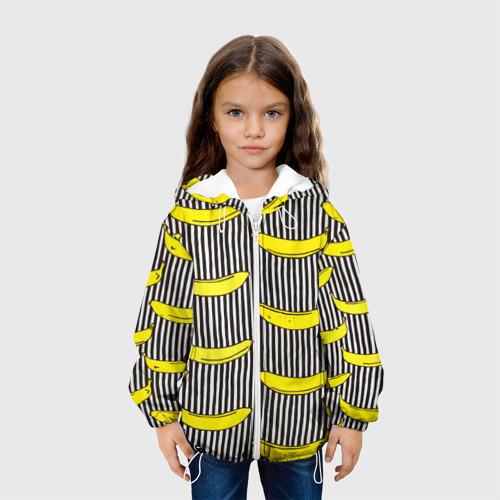 Детская куртка 3D  Фото 04, Бананы на Полосатом Фоне