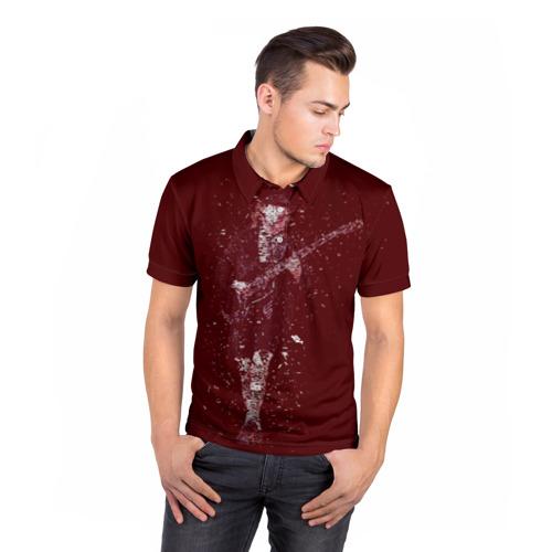 Мужская рубашка поло 3D  Фото 05, Red