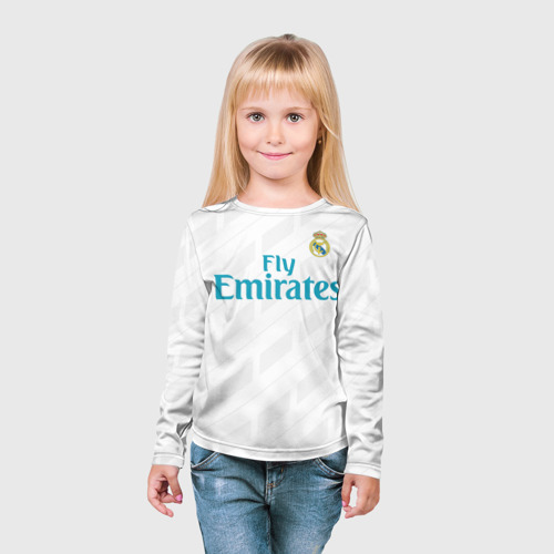 Детский лонгслив 3D  Фото 03, Real Madrid