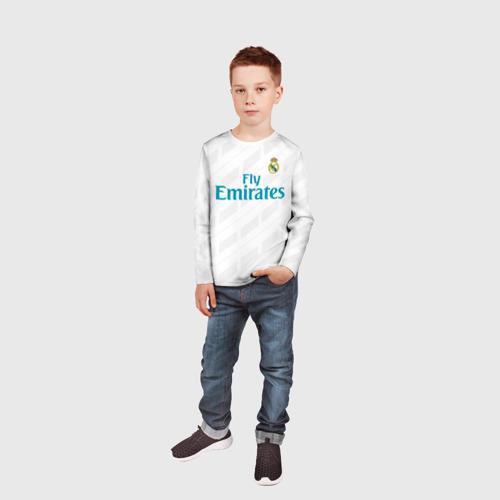Детский лонгслив 3D  Фото 05, Real Madrid