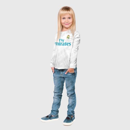 Детский лонгслив 3D  Фото 04, Real Madrid