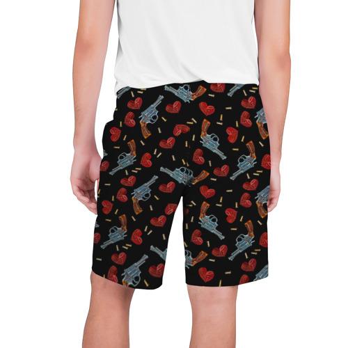 Мужские шорты 3D  Фото 02, Револьверы и Розы