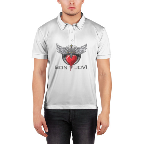 Мужская рубашка поло 3D  Фото 03, Bon Jovi