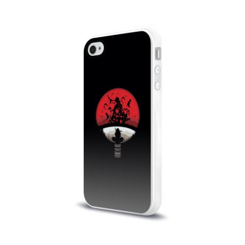 Чехол для Apple iPhone 4/4S силиконовый глянцевый Itachi Clan Uchiha Фото 01
