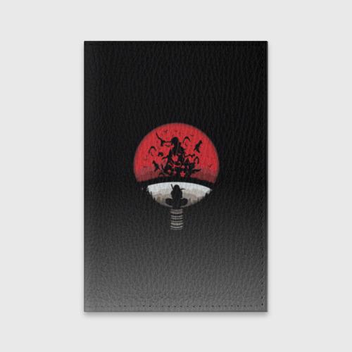 Обложка для паспорта матовая кожа Itachi Clan Uchiha Фото 01