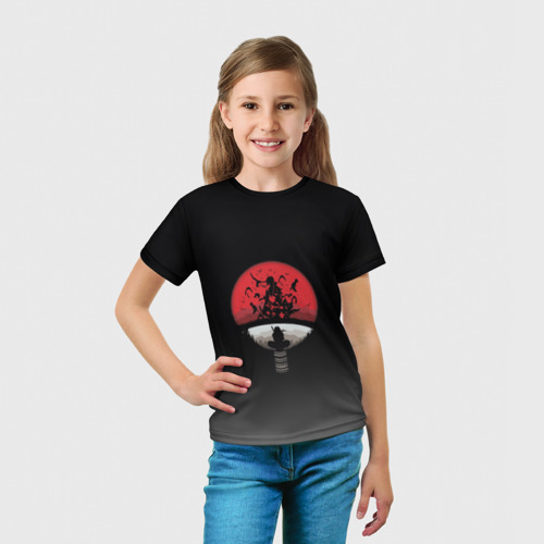Детская футболка 3D Itachi Clan Uchiha Фото 01
