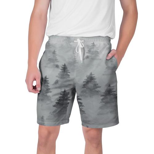 Мужские шорты 3D  Фото 01, Туманный лес