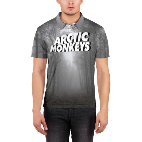 Мужская рубашка поло 3D  Фото 03, Forest Monkeys