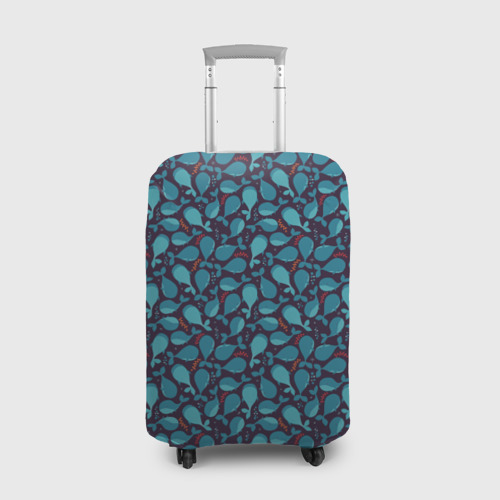 Чехол для чемодана 3D Киты Фото 01