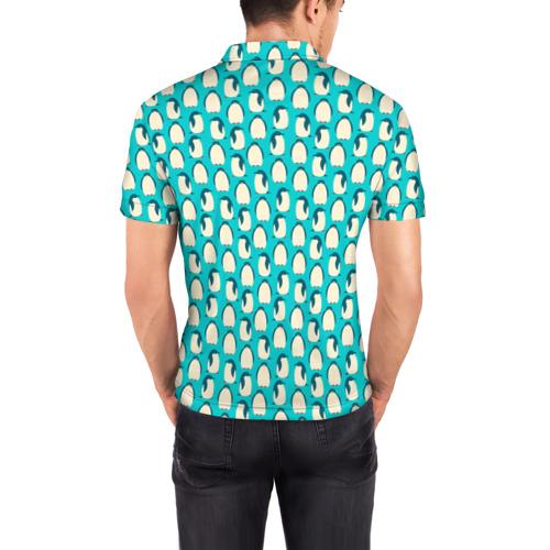 Мужская рубашка поло 3D  Фото 04, Пингвины
