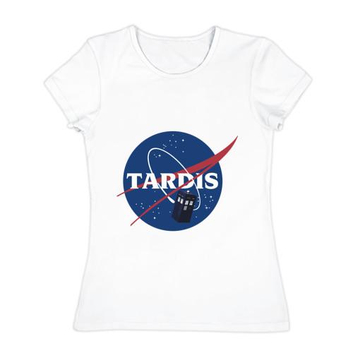 Женская футболка хлопок Tardis NASA