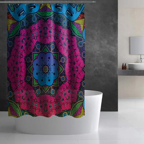 Штора 3D для ванной  Фото 02, Psy Fly