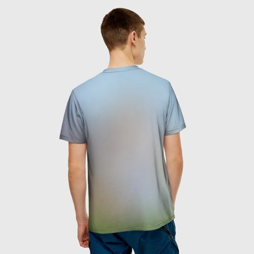Мужская футболка 3D Кот на Единороге Фото 01