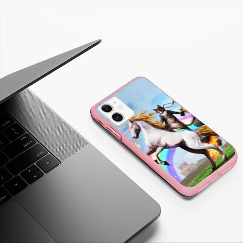 Чехол для iPhone 11 матовый Кот на Единороге Фото 01