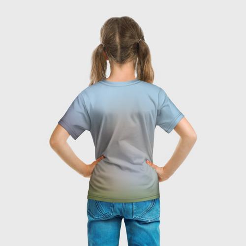 Детская футболка 3D Кот на Единороге Фото 01