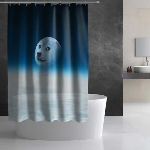 Штора 3D для ванной  Фото 02, Doge