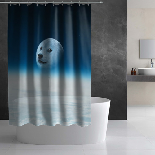 Штора 3D для ванной  Фото 03, Doge