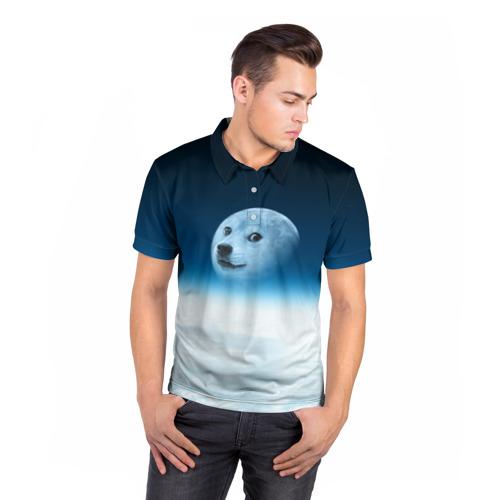 Мужская рубашка поло 3D  Фото 05, Doge