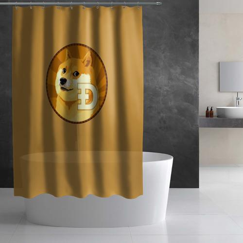 Штора 3D для ванной  Фото 03, Bitcoin