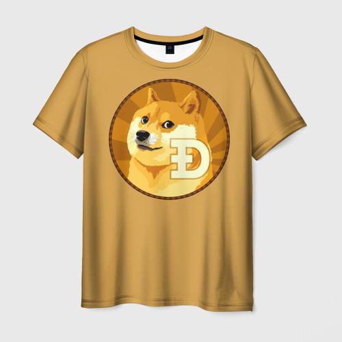 Мужская футболка 3D Bitcoin